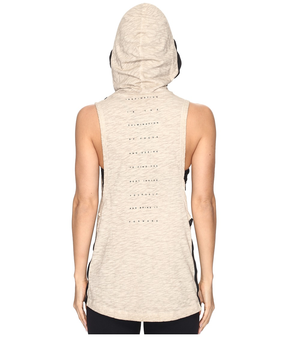 Reebok - Noble Fight Boxing Hooded Tank Top (Beige) Women's Sleeveless
