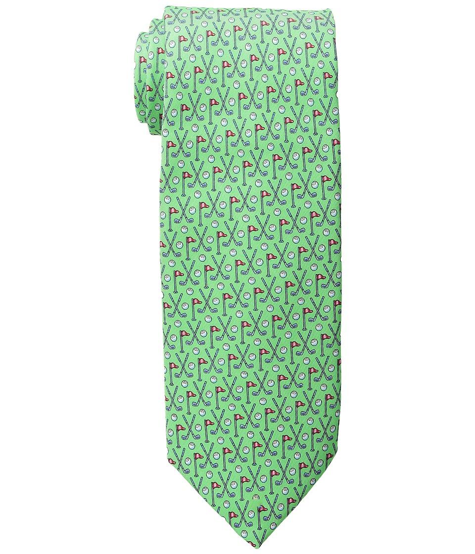 Vineyard Vines - Crossed Clubs Printed Tie (Green Gecko) Ties