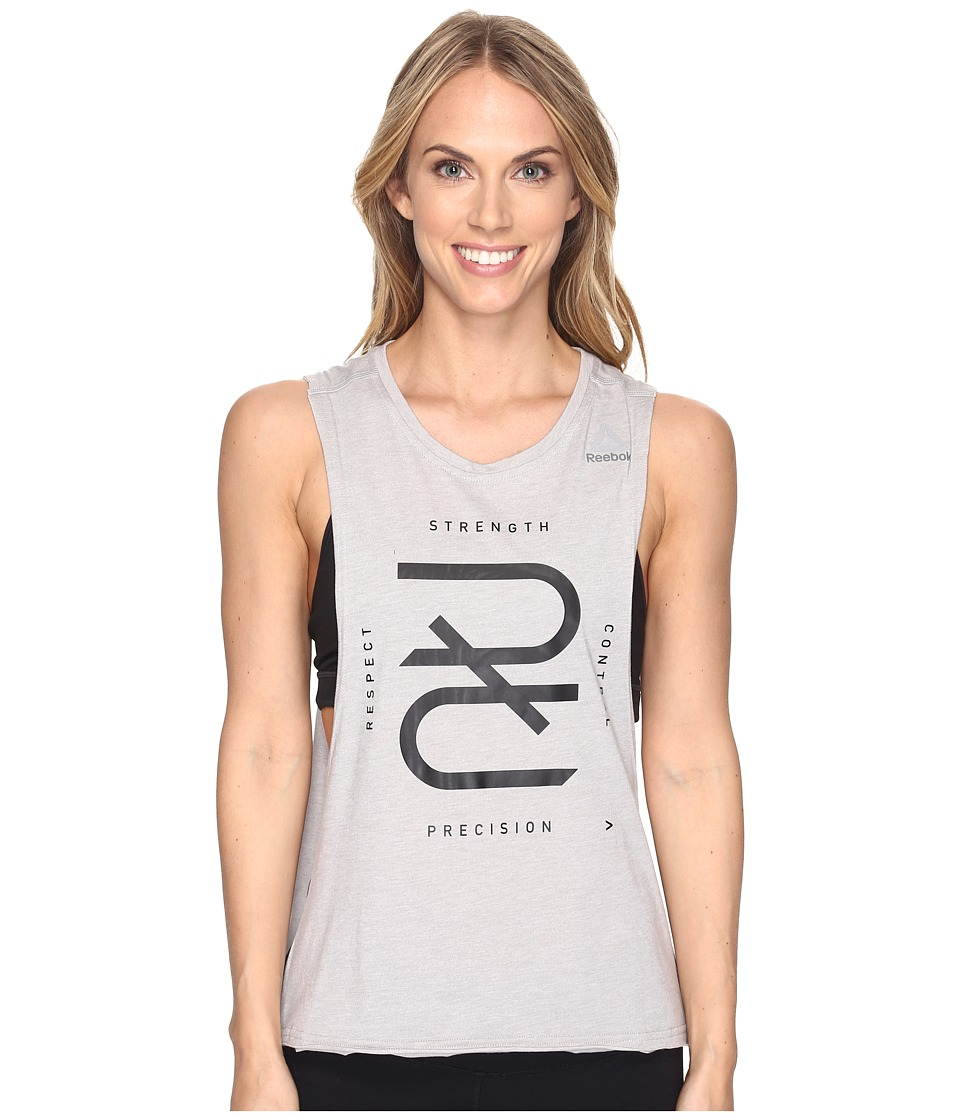 Reebok - Combat Tank (Grey) Women's Sleeveless