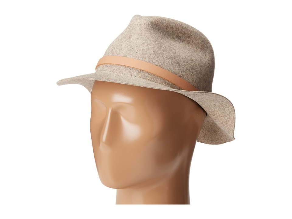 rag & bone - Packable Abbott Fedora (Natural Blend) Fedora Hats