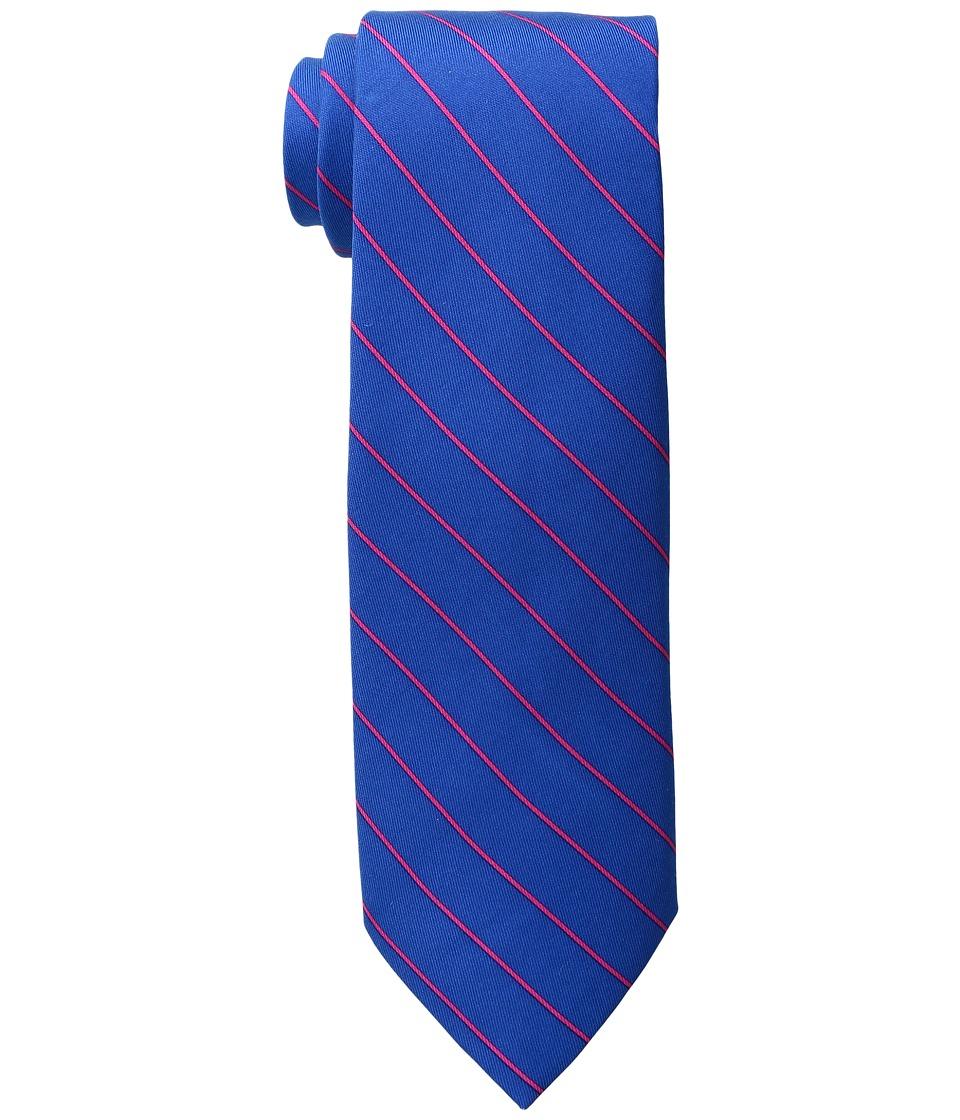 Vineyard Vines - Fish Line Stripe Printed Tie (Baltic Blue) Ties