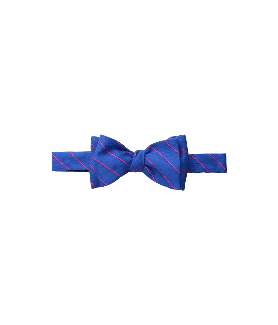 Vineyard Vines - Fish Stripe Printed Bow Tie (Baltic Blue) Ties