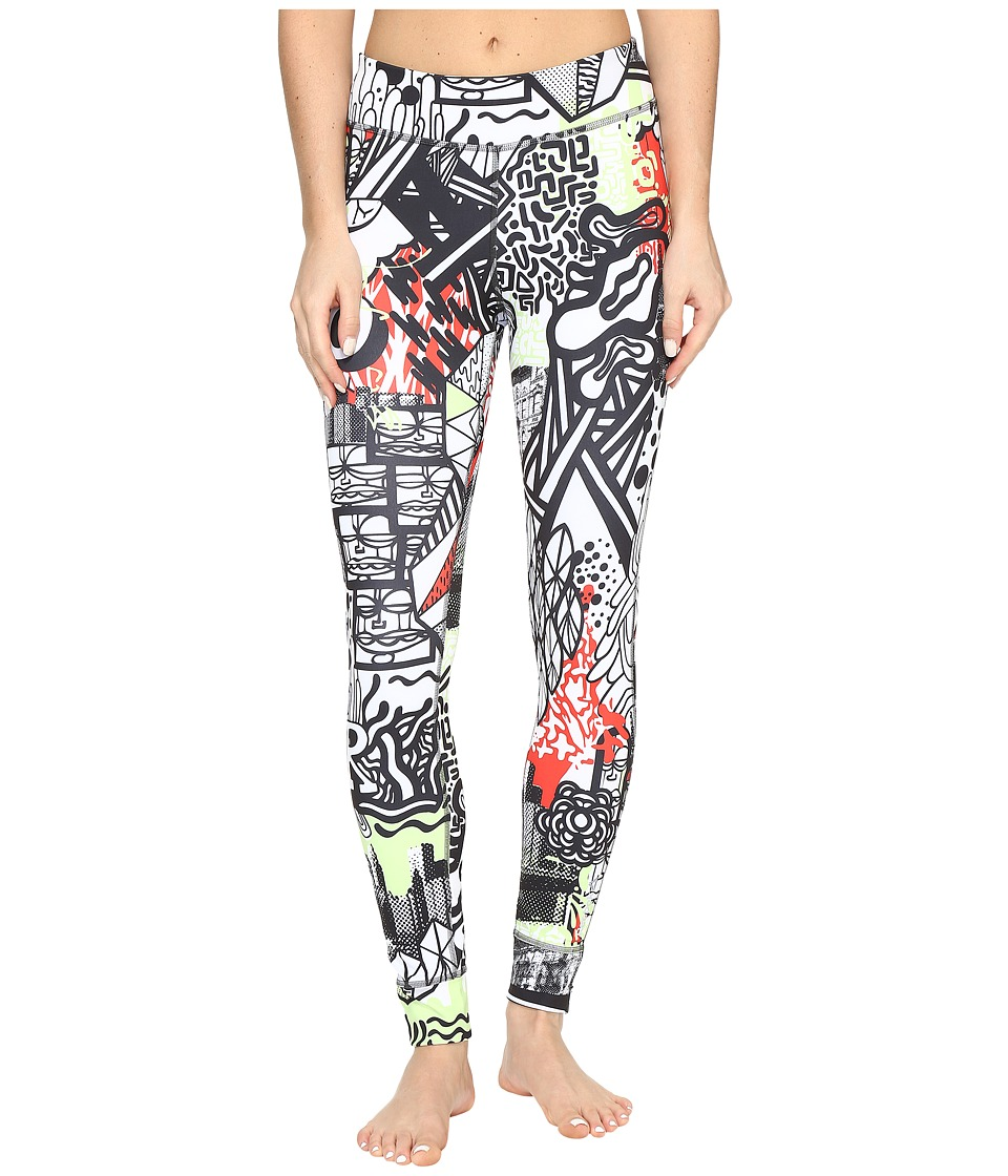 Reebok - Yoga Graffiti Tights (Green) Women's Workout