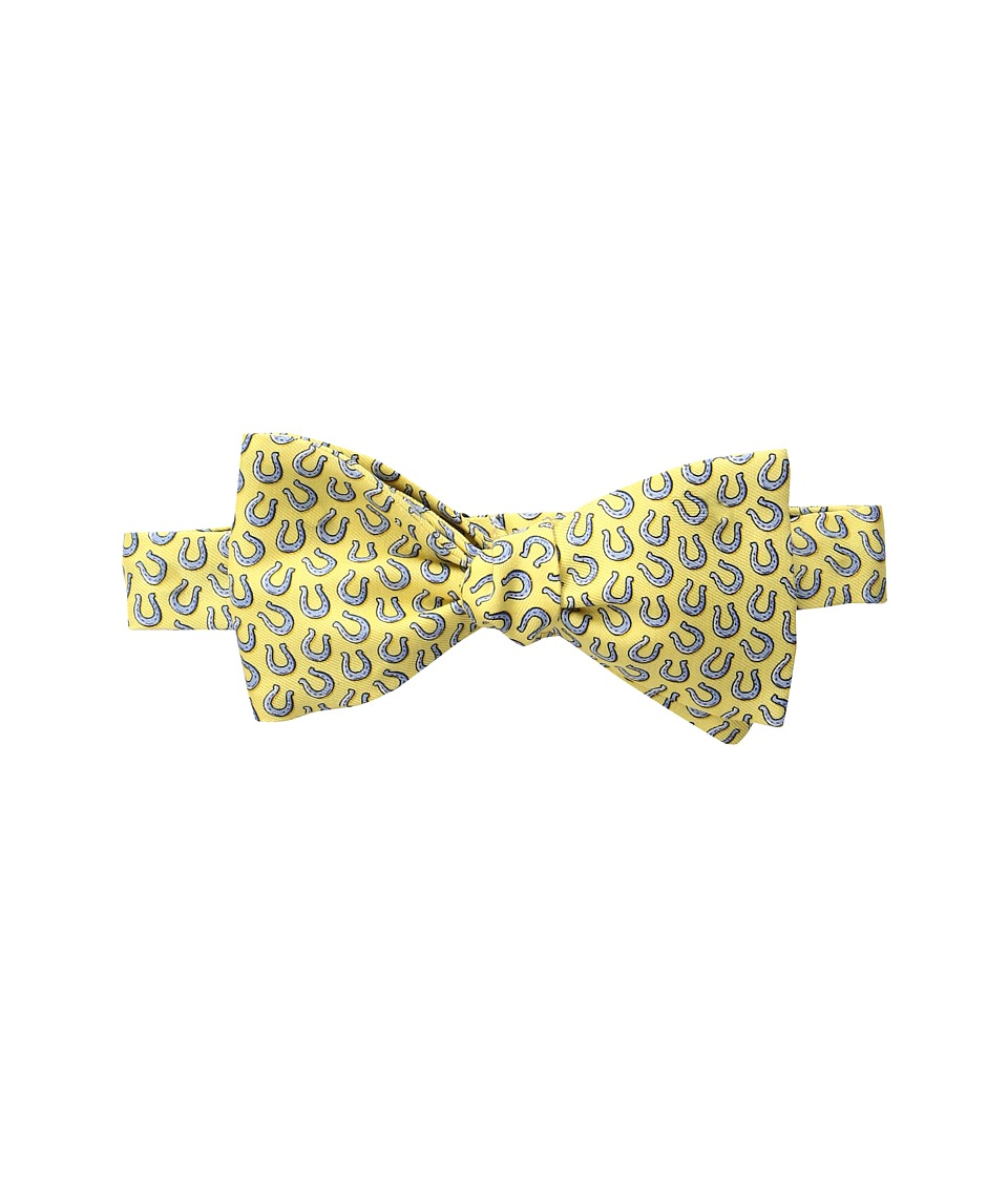 Vineyard Vines - Kentucky Derby Horseshoe Printed Bow Tie (Yellow) Ties