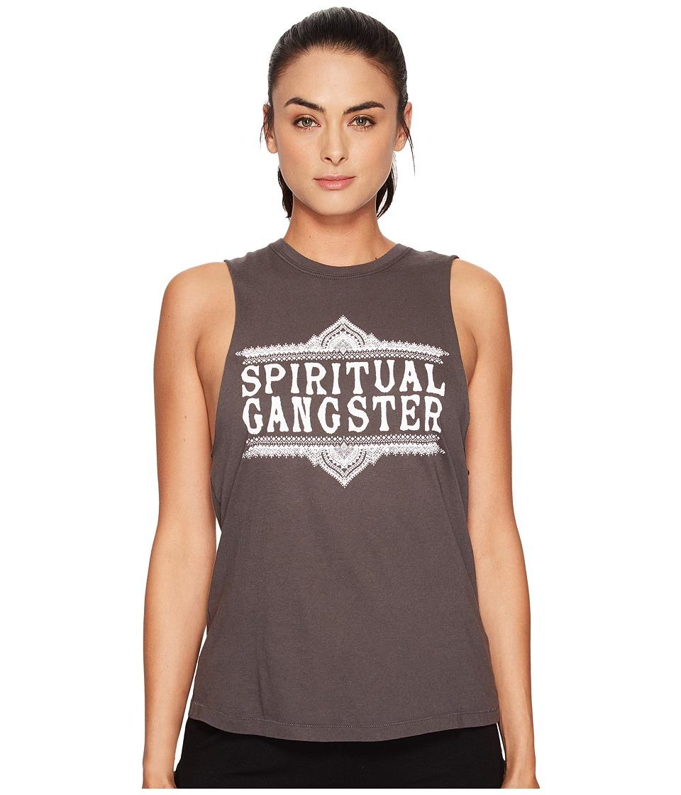 Spiritual Gangster - SG Sahara Logo (Vintage Black) Women's Workout