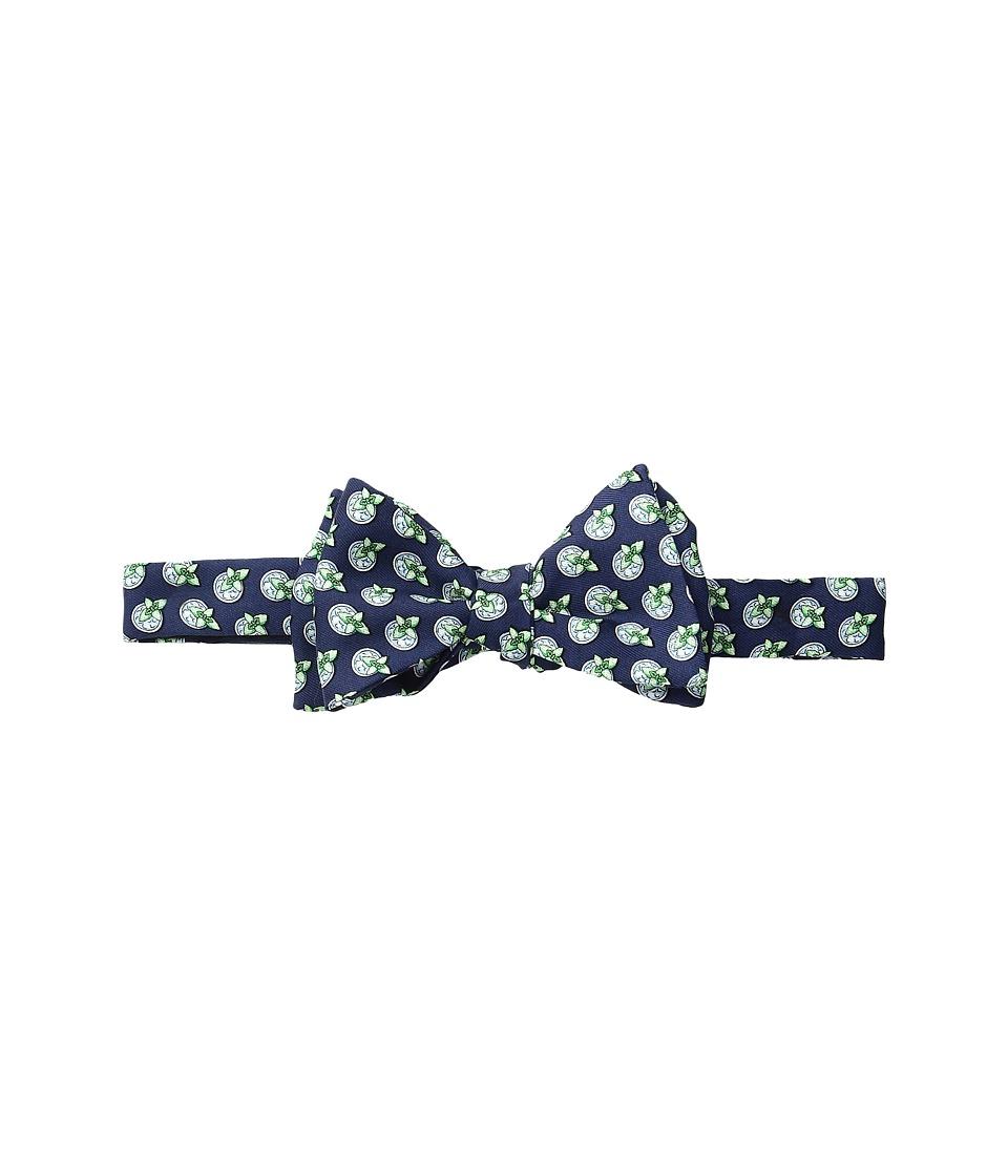 Vineyard Vines - Kentucky Derby Mint Julep Printed Bow Tie (Navy) Ties