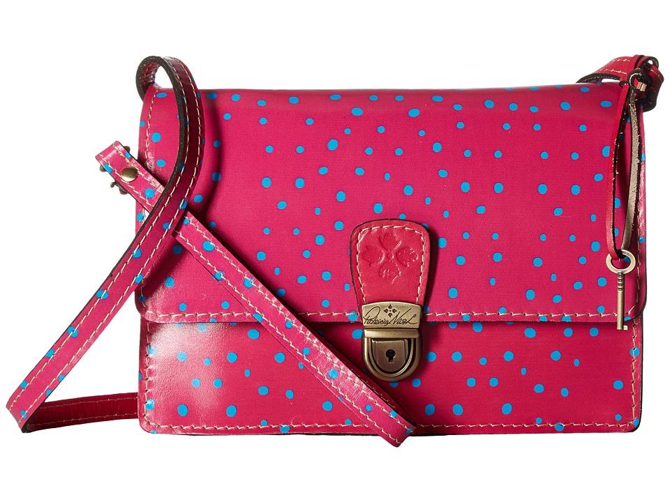 Patricia Nash - Lanza Crossbody Organizer (Polka Dot Pink) Cross Body Handbags