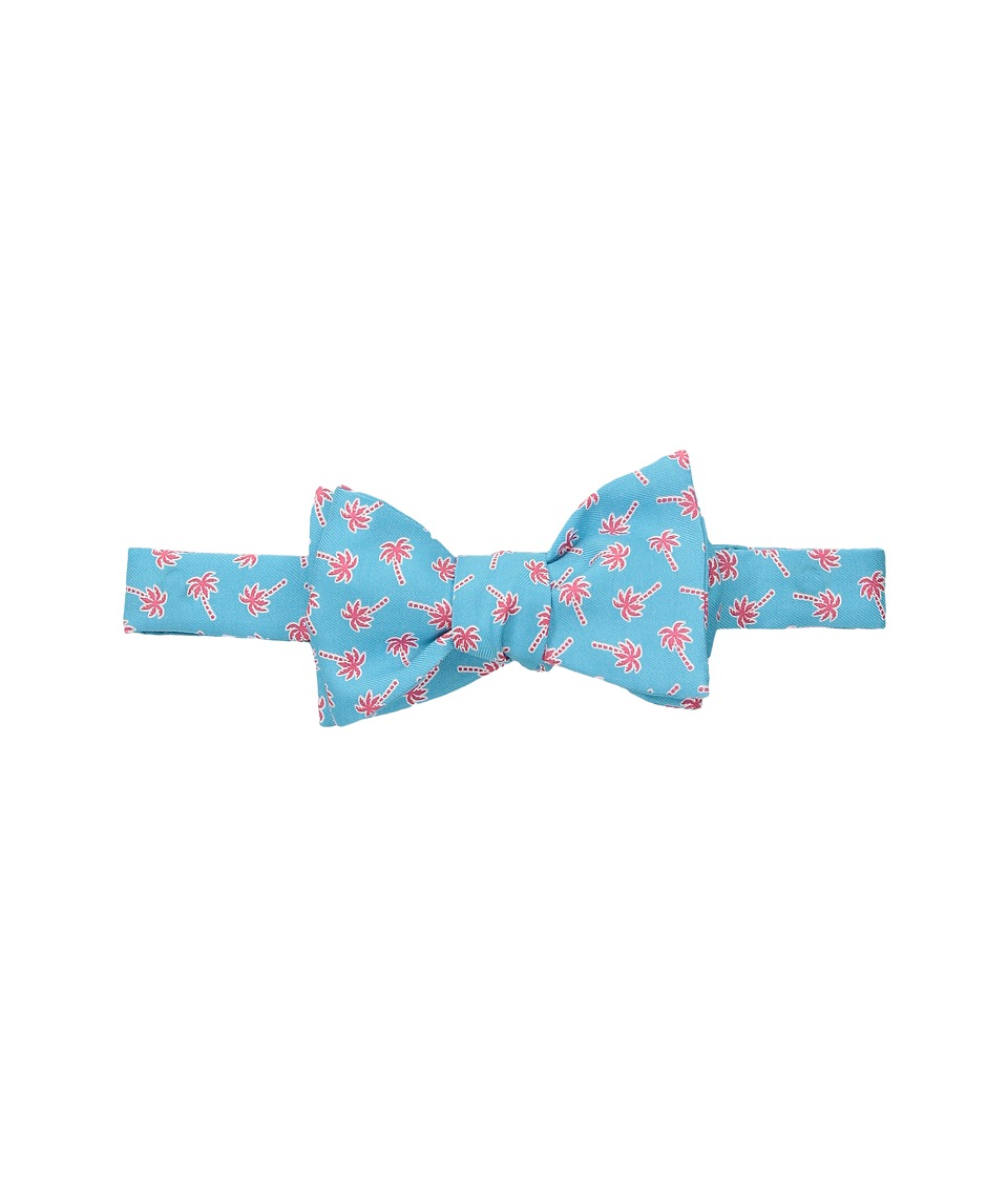 Vineyard Vines - Palm Toss Printed Bow Tie (Bimini Blue) Ties