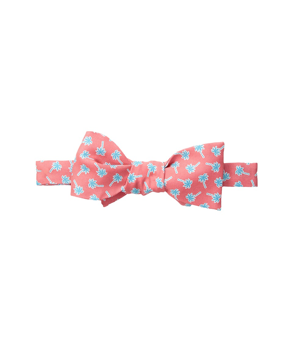 Vineyard Vines - Palm Toss Printed Bow Tie (Tomato Check) Ties
