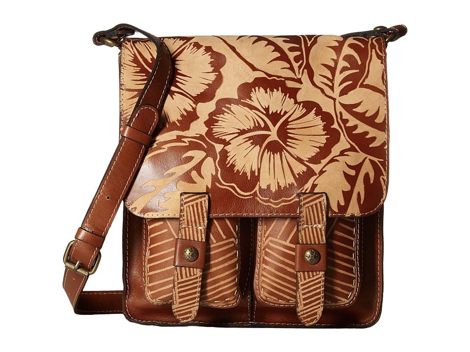 Patricia Nash - Armeno Messenger (Tan) Cross Body Handbags