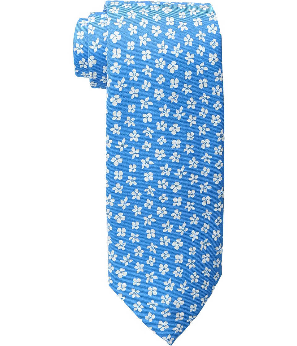Vineyard Vines - Woodblock Floral Printed Tie (Caribbean Blue) Ties