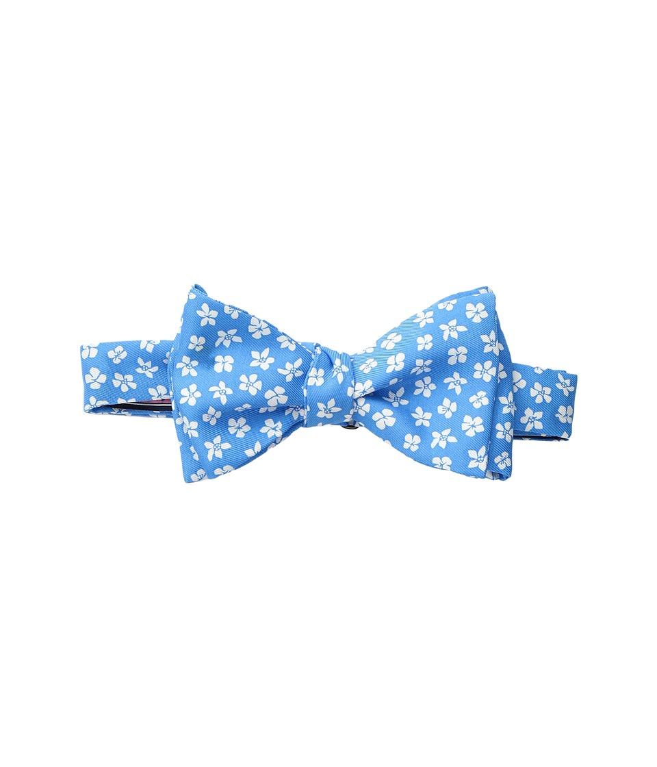 Vineyard Vines - Woodblock Printed Bow Tie (Caribbean Blue) Ties