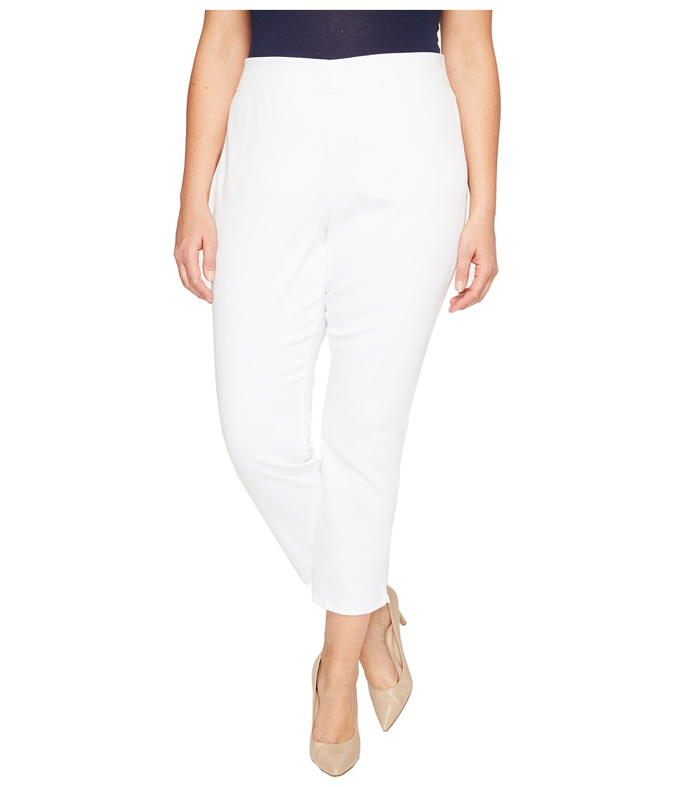 NYDJ Plus Size - Plus Size Alina Pull-On Ankle Jeans in Endless White (Endless White) Women's Jeans