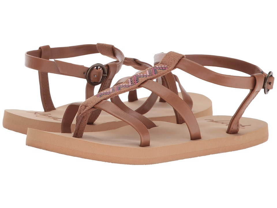 Roxy Kids Keke (Little Kid/Big Kid) (Brown) Girls Shoes