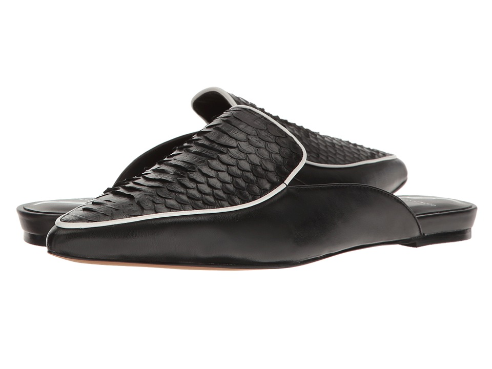 B Brian Atwood - Sonja (Black Snake) Women's Slip on Shoes