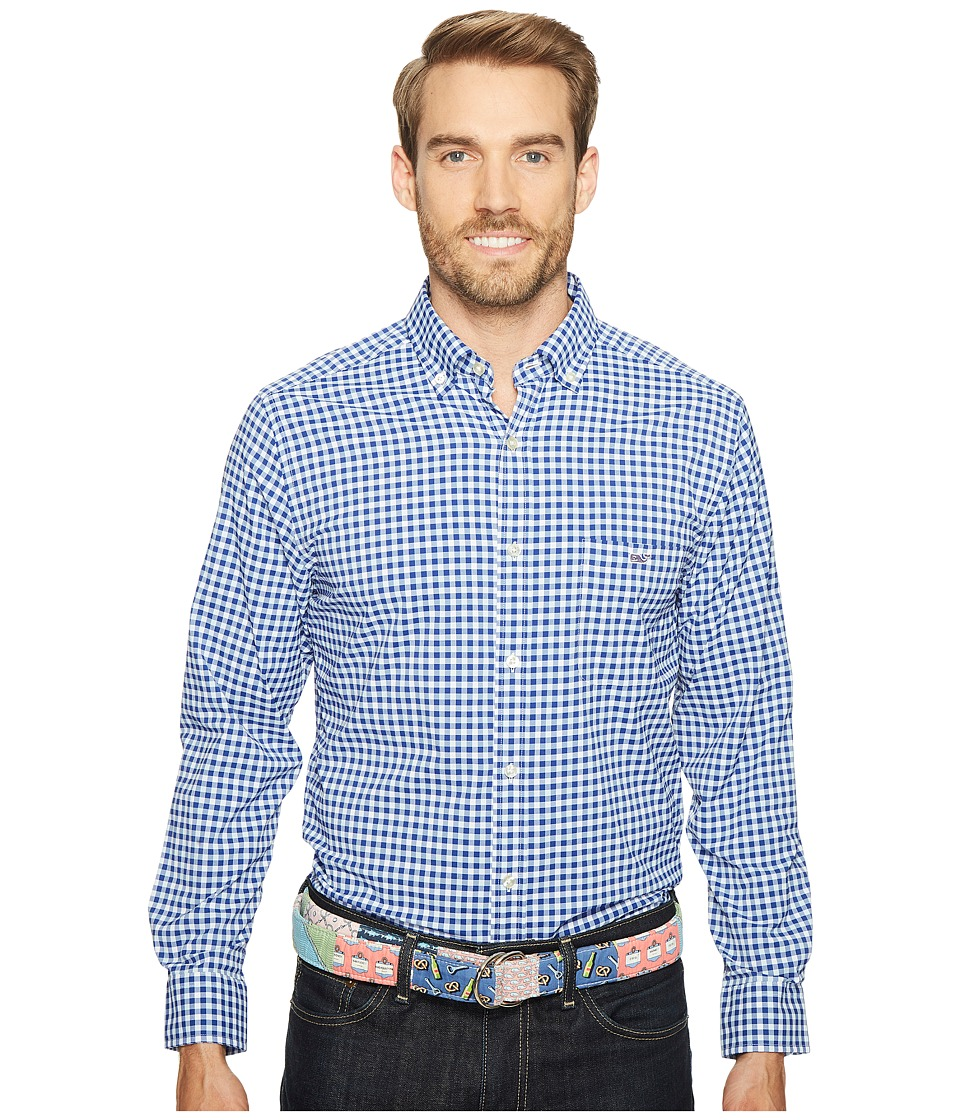 Vineyard Vines - East End Gingham Classic Tucker Shirt (Bluewash) Men's Clothing