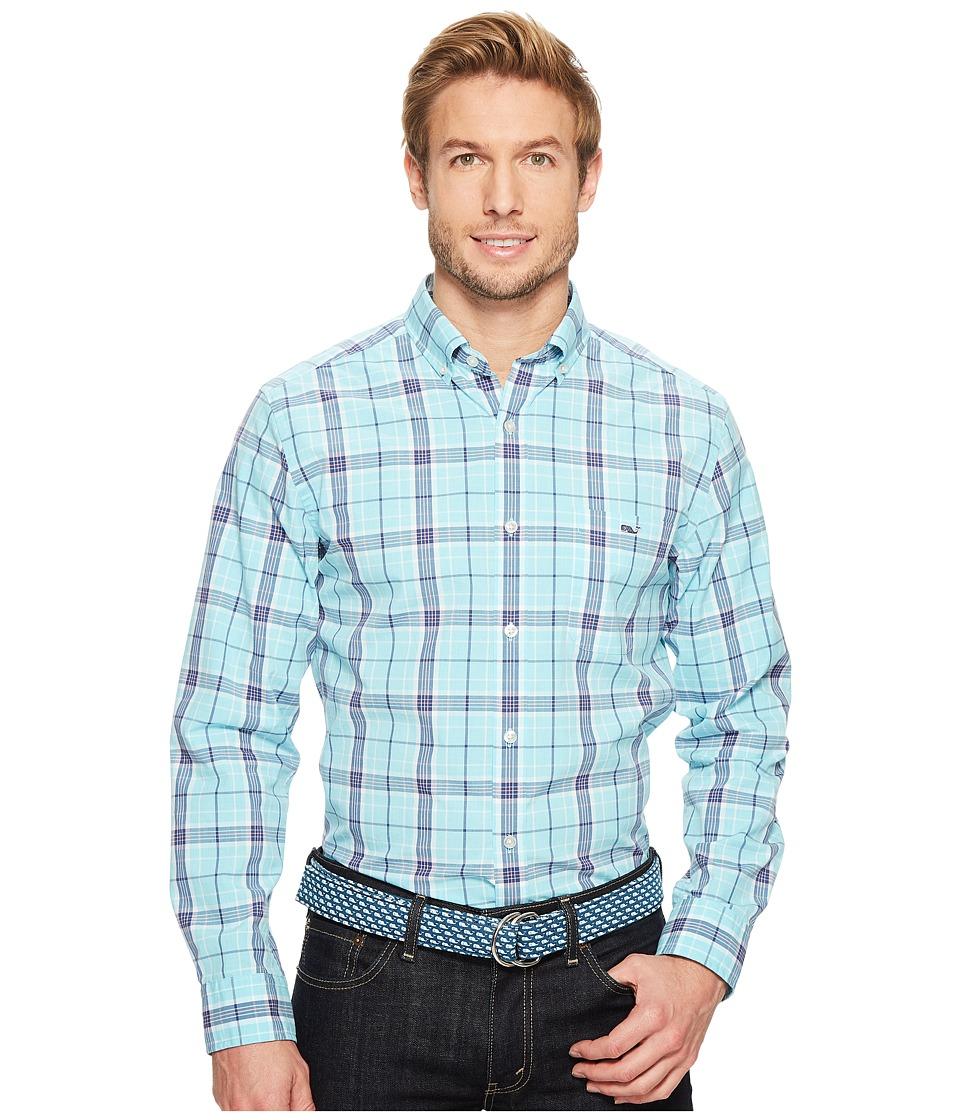 Vineyard Vines - Freshwater Pond Plaid Classic Tucker Shirt (Turquoise) Men's Clothing