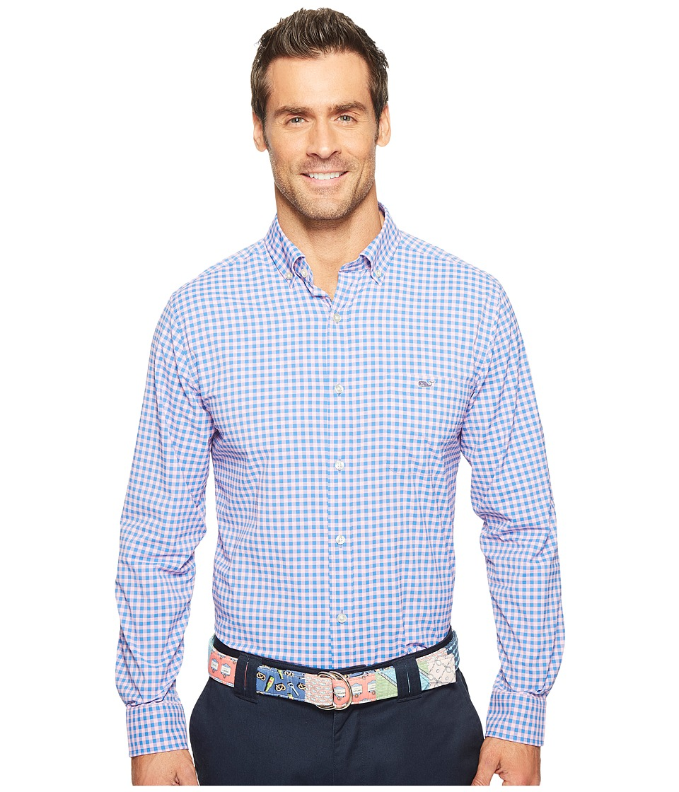 Vineyard Vines - Fishlock Gingham Classic Tucker Shirt (Spinnaker) Men's Clothing