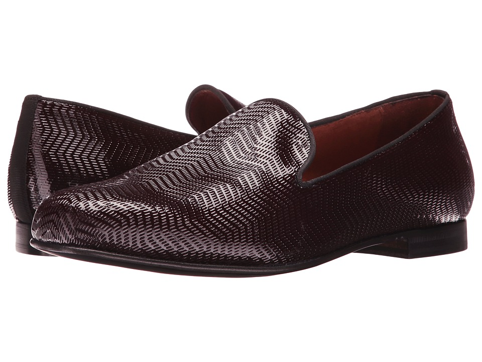 Massimo Matteo - Textured Parent Slip-On (Burgundy Patent) Men's Slip on Shoes