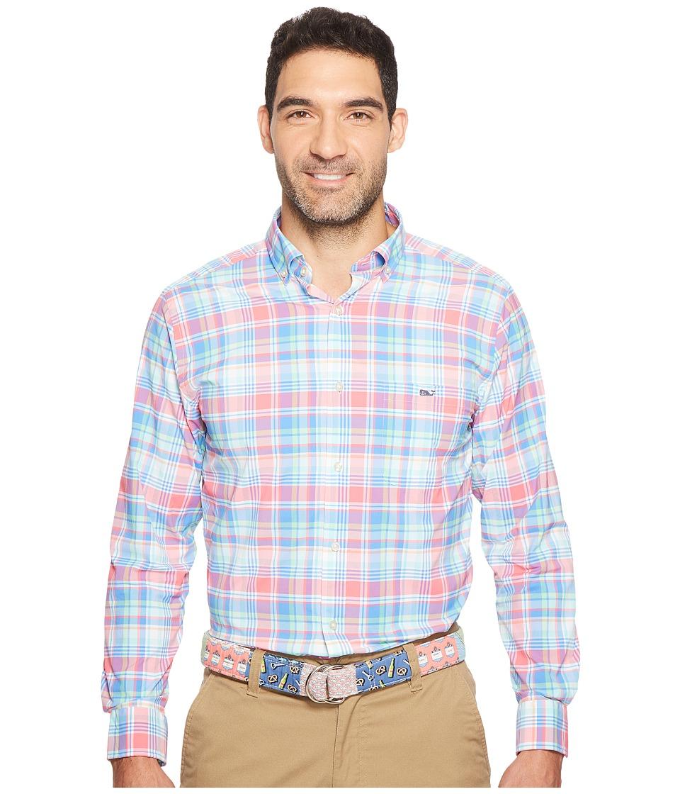 Vineyard Vines - Bridgehampton Plaid Classic Tucker Shirt (Beach Rose) Men's Clothing