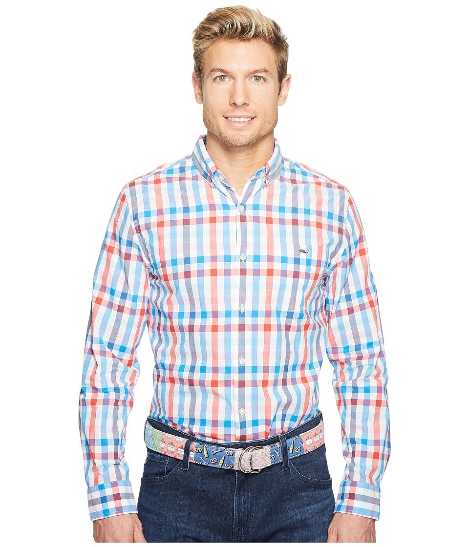 Vineyard Vines - Chalwell Check Slim Tucker Shirt (Parade Red) Men's Clothing