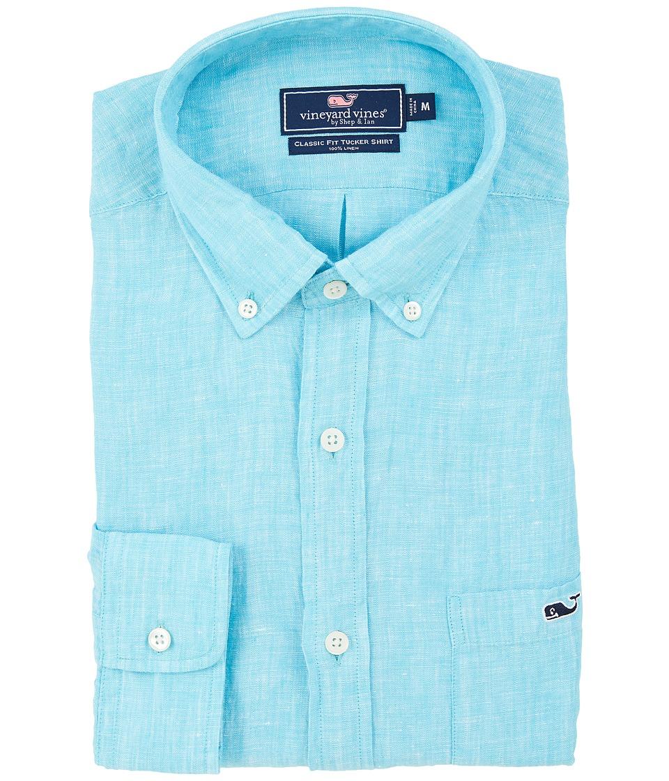 Vineyard Vines - Linen Classic Tucker Shirt (Turquoise) Men's Clothing