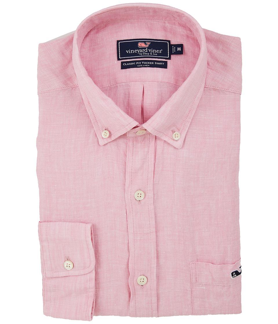 Vineyard Vines - Linen Classic Tucker Shirt (Cotton Candy) Men's Clothing