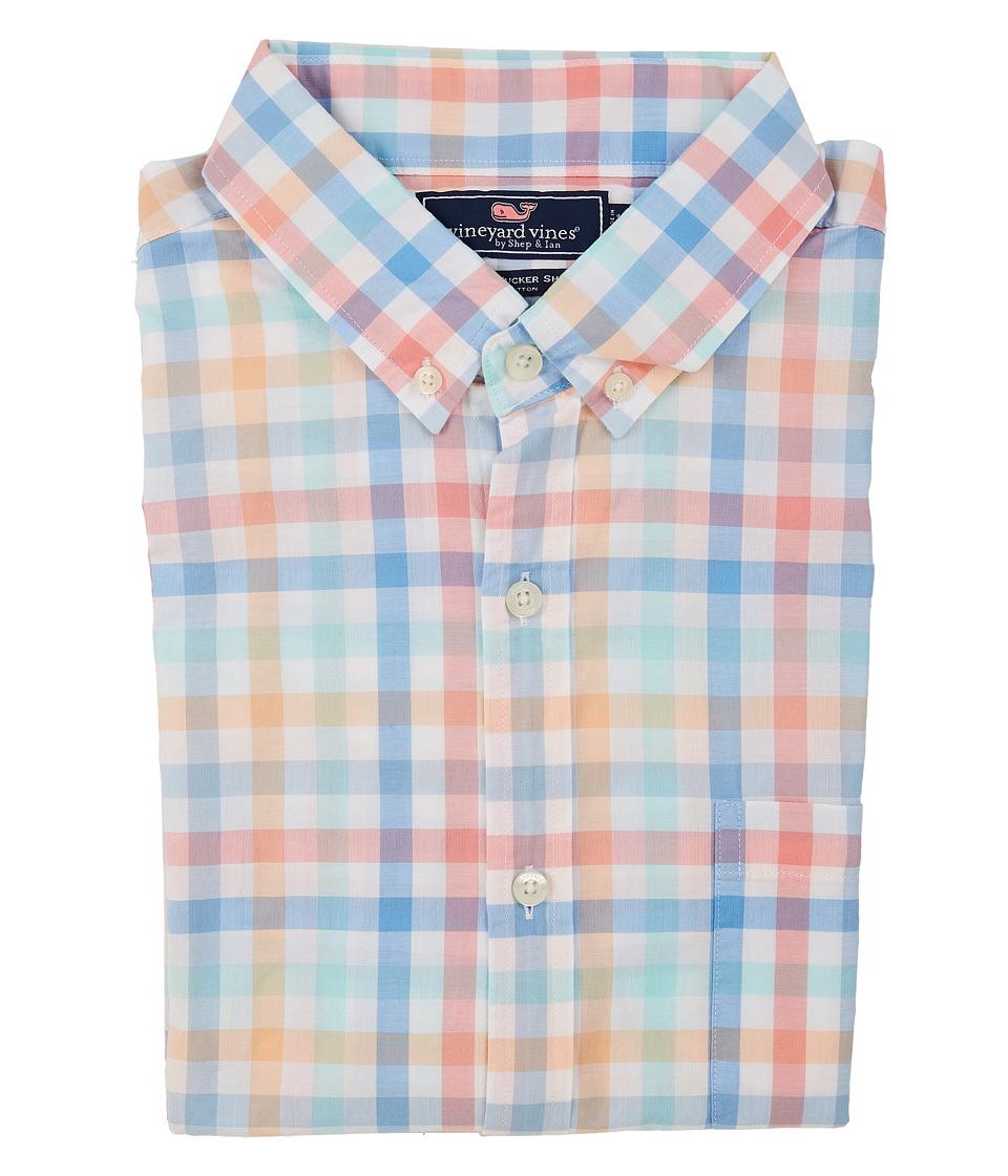 Vineyard Vines - Boway Check Slim Tucker Shirt (Ocean Breeze) Men's Clothing