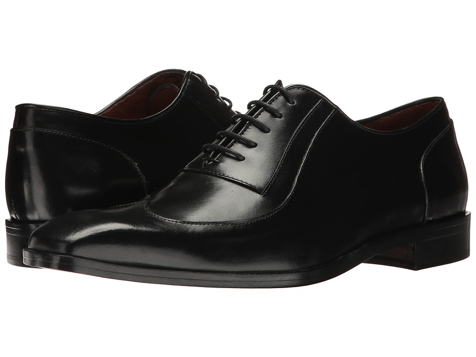 Massimo Matteo - Wing Tip Bal (Black) Men's Lace up casual Shoes