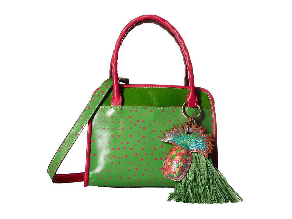 Patricia Nash - Paris Satchel (Polka Dot Green) Satchel Handbags