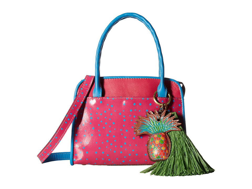 Patricia Nash - Paris Satchel (Polka Dot Pink) Satchel Handbags