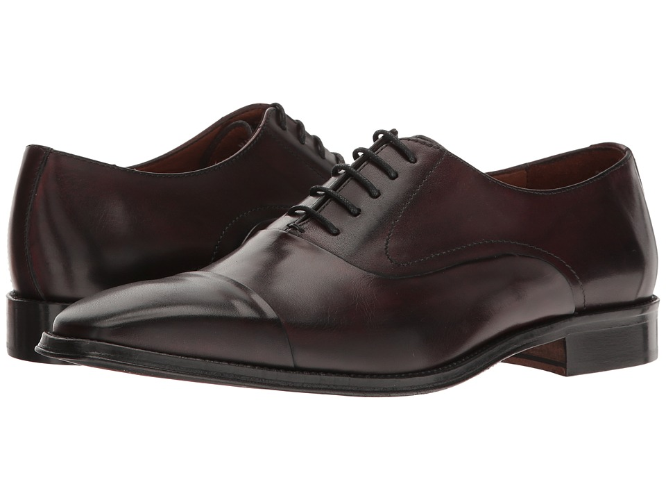 Massimo Matteo - 5-Eye Cal Bal (Burgundy) Men's Lace up casual Shoes
