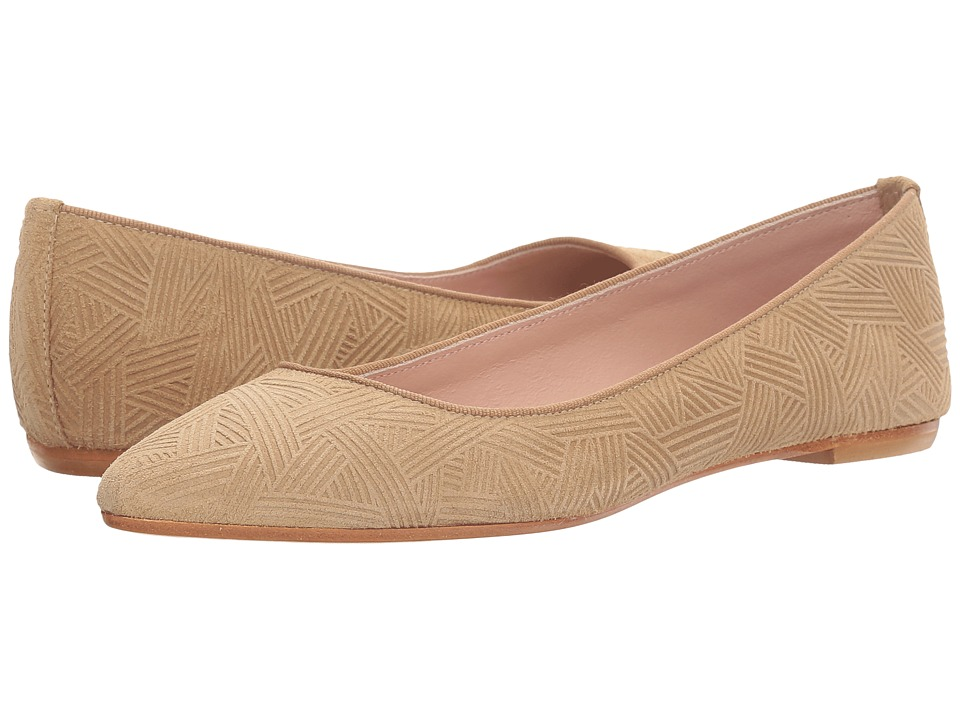 Summit by White Mountain - Kamora (Tan Embossed Suede) Women's Flat Shoes