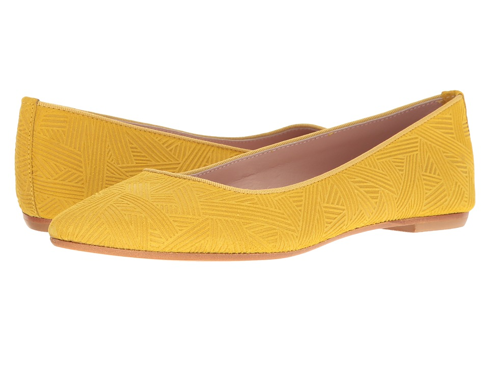 Summit by White Mountain - Kamora (Yellow Embossed Suede) Women's Flat Shoes