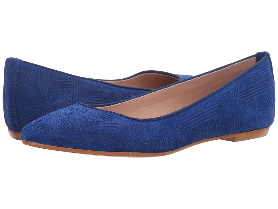 Summit by White Mountain - Kamora (Blue Embossed Suede) Women's Flat Shoes