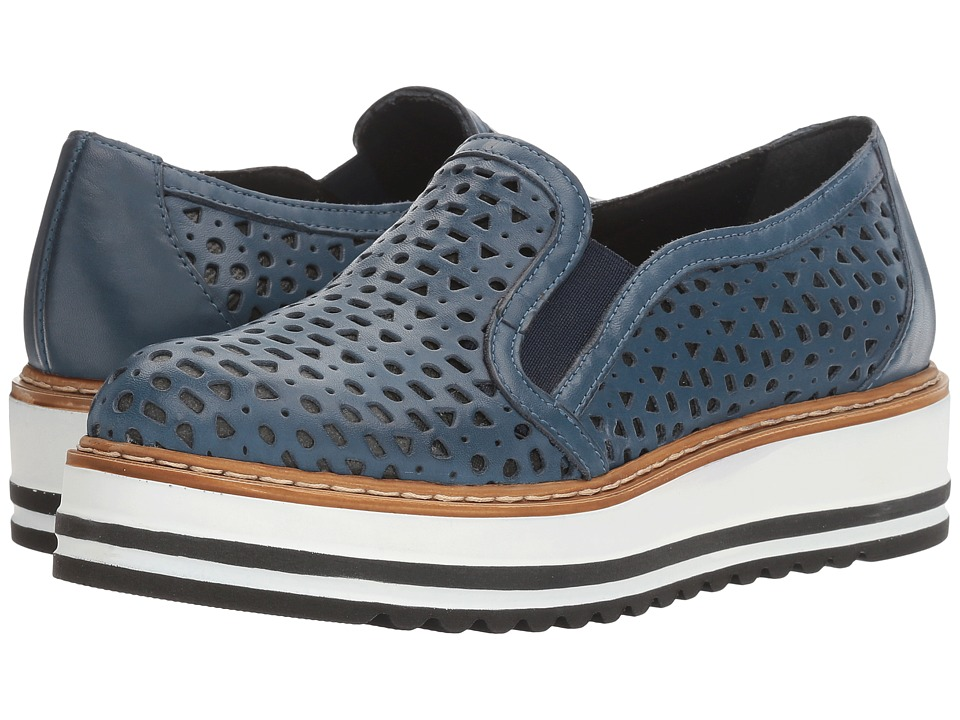 Summit by White Mountain - Braxton (Blue Leather) Women's Slip on Shoes