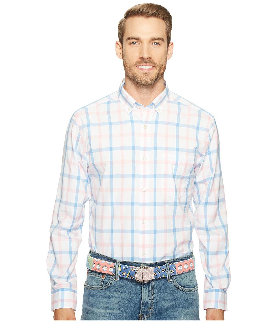Vineyard Vines - Elsie Bay Check Classic Murray Shirt (Dawn Pink) Men's Clothing