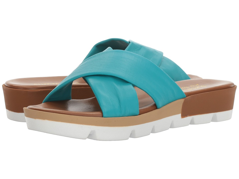 Summit by White Mountain Floretta (Turquoise Leather) Women