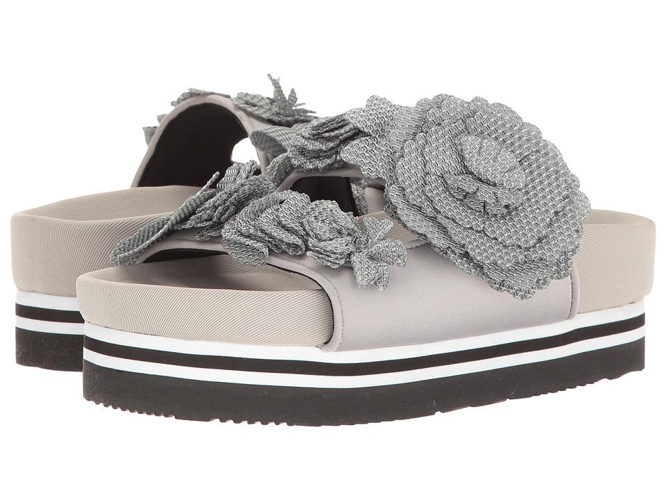 Suecomma Bonnie - Flower Detailed Flat Platform (Grey) Women's Sandals