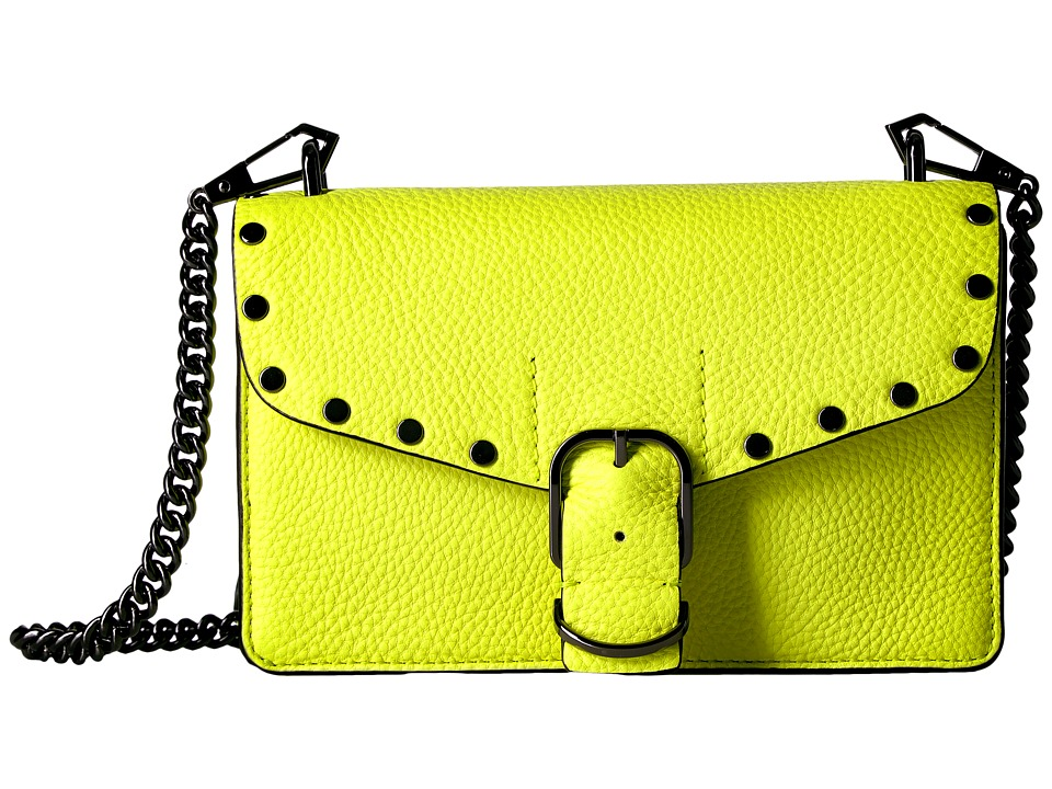 Rebecca Minkoff - Biker Mini Crossbody (Neon Yellow) Cross Body Handbags