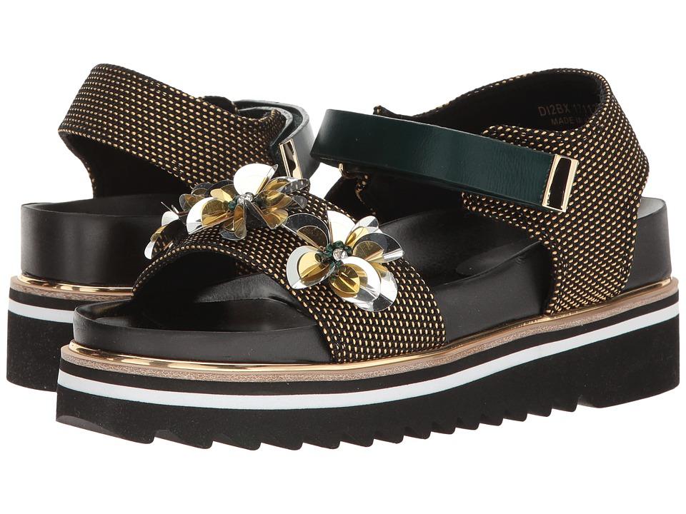 Suecomma Bonnie - Flower Ornament Platform Sandal (Yellow) Women's Sandals