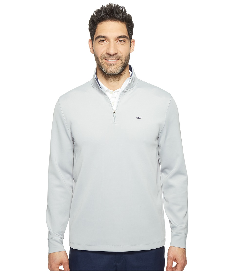 Vineyard Vines Golf - Buff Bay 1/4 Zip Performance Shirt (Barracuda) Men's Clothing