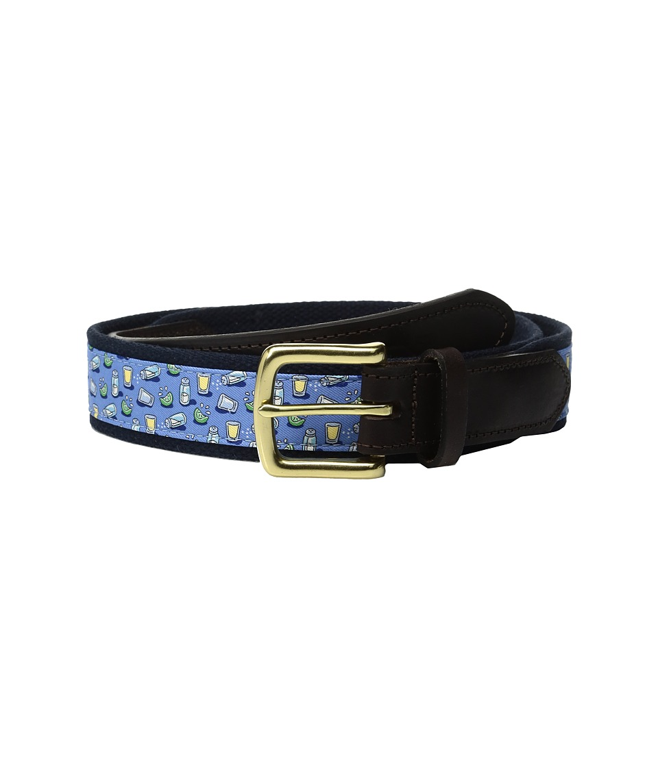 Vineyard Vines - Tequila Lime Canvas Club Belt (Bimini Blue) Men's Belts