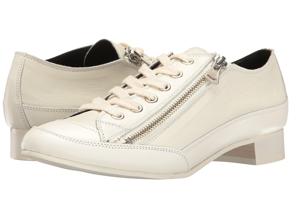 Y's by Yohji Yamamoto - Side Zipper Low Shoes (Off-White) Women's Shoes