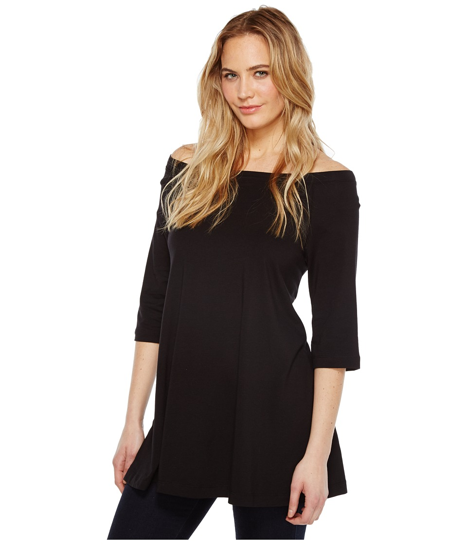 Nally & Millie - Off Shoulder Tunic (Black) Women's Clothing