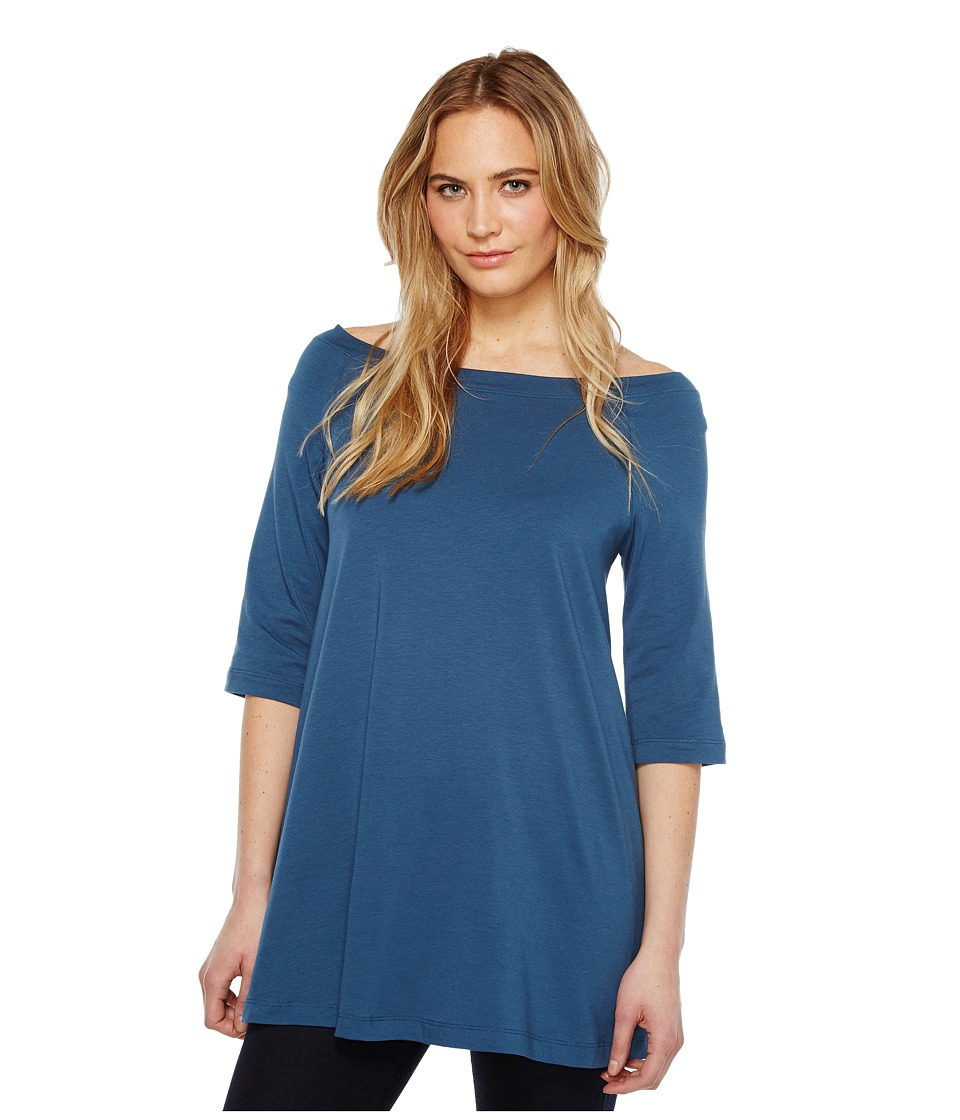 Nally & Millie - Off Shoulder Tunic (Dark Denim) Women's Clothing