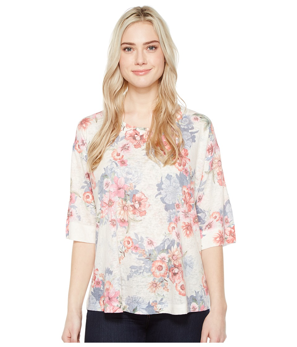 Nally & Millie - Printed Over Size Top (Multicolor) Women's Clothing