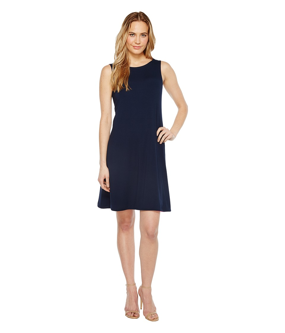 Nally & Millie Reversible Flared Dress (Navy/Pink/Fuchsia) Women