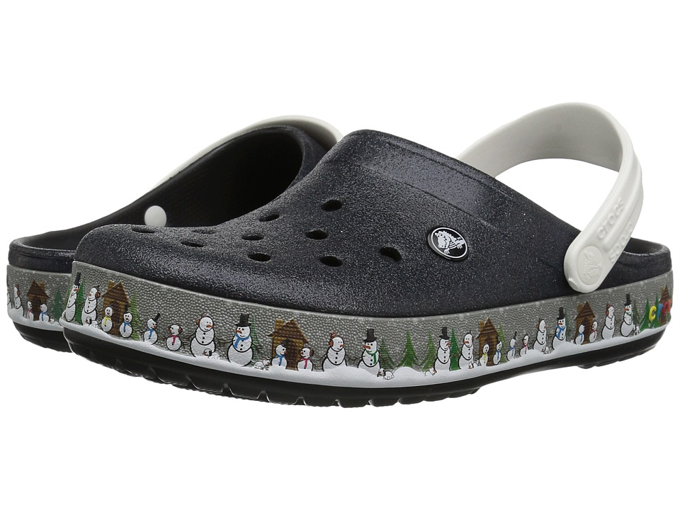 Crocs - Crocbandtm Holiday Clog (Black) Clog Shoes