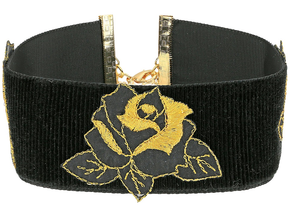 Vanessa Mooney - The Dusty Rose Choker Necklace (Black) Necklace